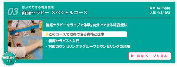 箱庭セラピー スペシャルコース